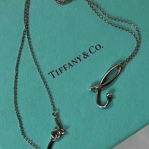 Tiffany Elsa Peretti Letter 'B' Pendant